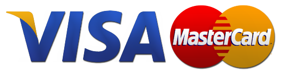 we accept visa & pastercard